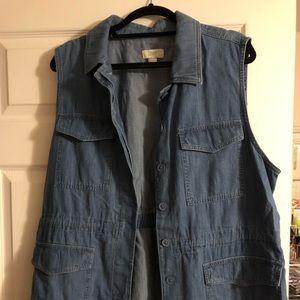 Denim utility vest from loft